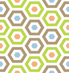 Retro modern hexagon lattice vector