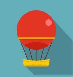 red aerostat balloon icon flat style vector image