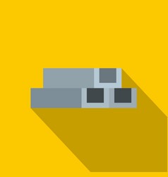 Concrete or metal constructions icon flat style vector