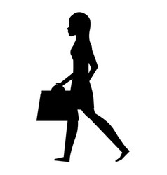 Young woman with shopping bags vector