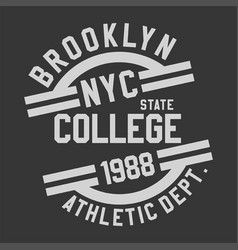 Brooklyn nyc college vector