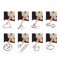 pencil drawing logos vector image
