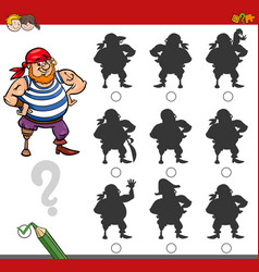 Shadow game activity with pirate vector