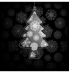 Christmas card with tree  EPS8 vector image