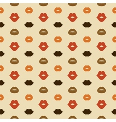 Lips seamless pattern vector