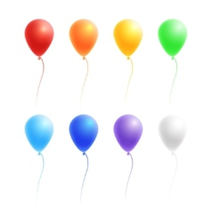 Set of colorful balloons vector