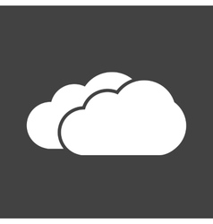 Two clouds vector