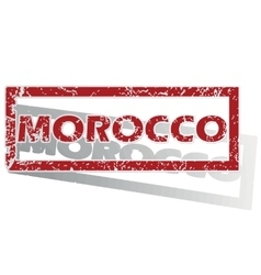 Morocco outlined stamp vector