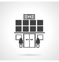 Hospital facade black icon vector