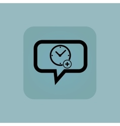 Pale blue add time message vector