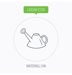 Watering can icon gardener equipment sign vector