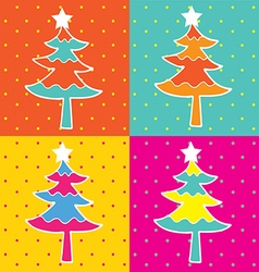 Pop art christmas tree vector