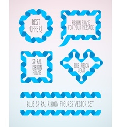 Set of spiral ribbon frames vector