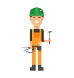Serviceman builder professional and worker vector