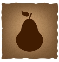 Pear sign vintage effect vector