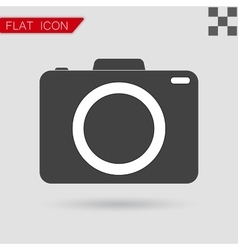 Camera icon flat style with red vector