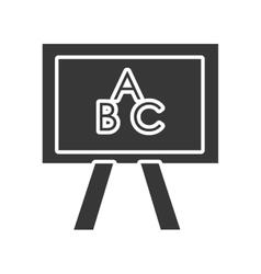 Black and white school board graphic vector