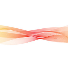Abstract transparent orange-red gradient wave vector