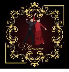 al 0304 flamenco poster 02 vector image vector image