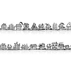 Cityscape sketch vector