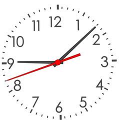 Clock face on white vector