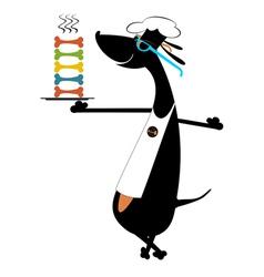 Dog a cook vector