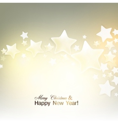 Elegant Christmas background with stars vector image