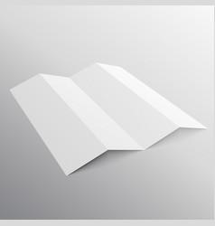 Five fold presentation mockup template vector