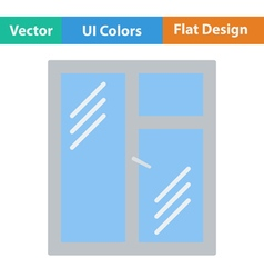 Flat design icon of closed window frame vector image