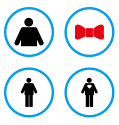 Gentleman rounded icons vector