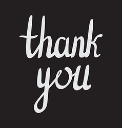 Hand drawn poster thank you hand drawn typography vector