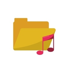 Isolated music note and file design vector