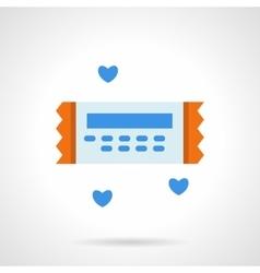 Love ticket flat color icon vector image vector image