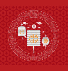 Mid autumn festival chinese background with vector