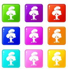 Oak set 9 vector