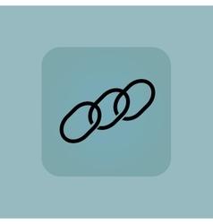 Pale blue chain icon vector