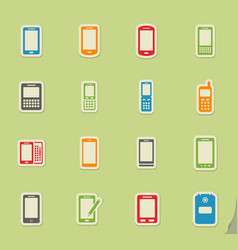 Phones simply icons vector