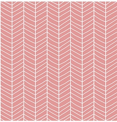 Seamless pattern with hand drawn chevron line grid vector image