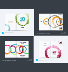 Set of abstract design of business brochure vector