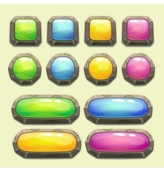 Set of cartoon buttons vector image vector image