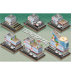 Set of isometric hospitals vector