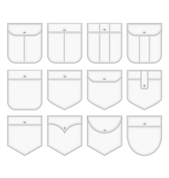 Shirt pockets vector image