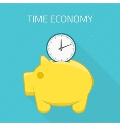 Time economy concept vector image vector image