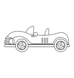 Vintage car kid toy icon vector