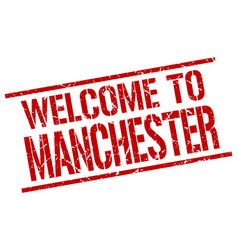 welcome to manchester stamp vector image