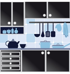 with kitchen vector image vector image