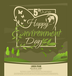 world environment day poster design 5 june vector image vector image