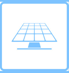 Solar energy panel icon vector