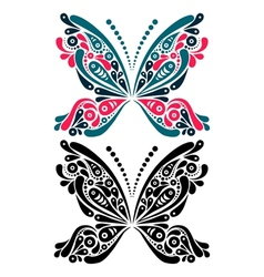 Beautiful butterfly tattoo vector image