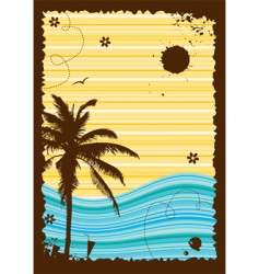 Summer holiday frame vector